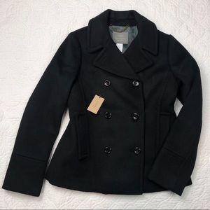 "NWT J Crew ""PeaCoat Wool"" 💯 Italian wool jacket"
